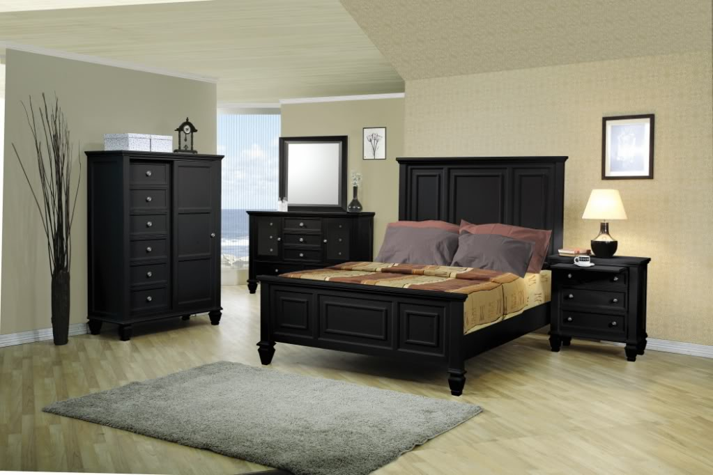 traditional black bedroom furniture photo - 7