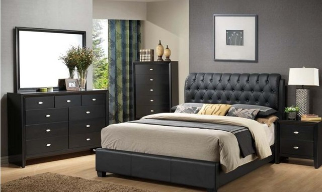 traditional black bedroom furniture photo - 8