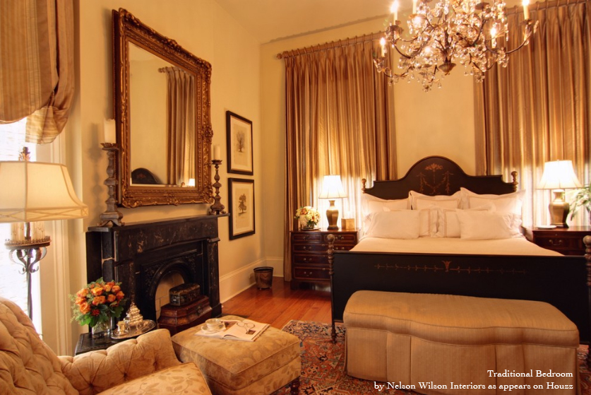 traditional contemporary bedroom photo - 1