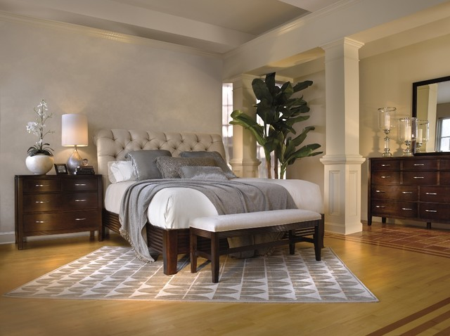 traditional contemporary bedroom photo - 6