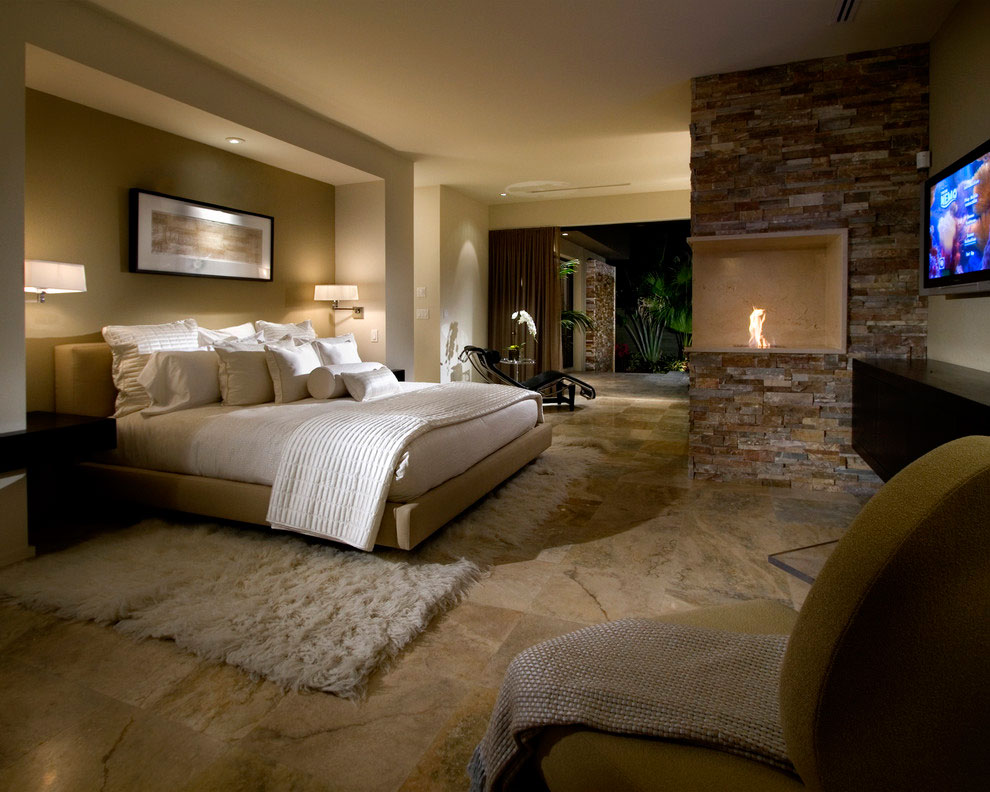 traditional contemporary bedroom photo - 8