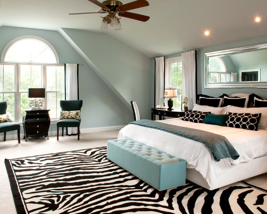 traditional contemporary bedroom photo - 9