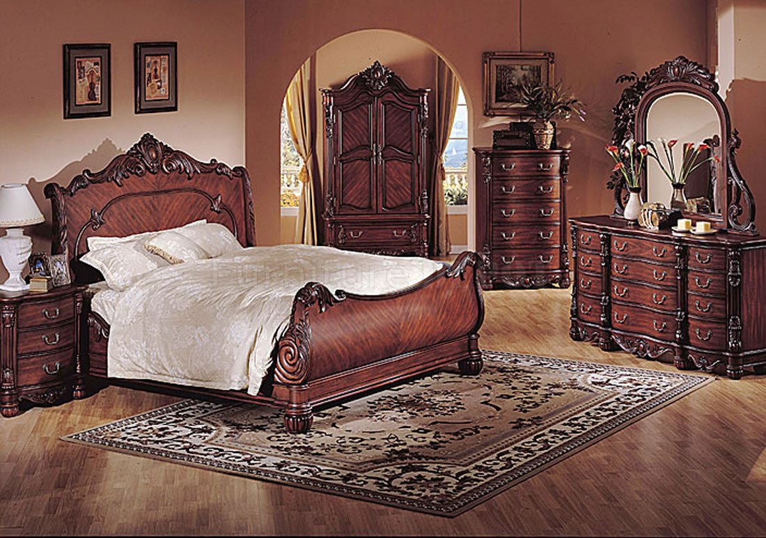 traditional designer bedroom furniture photo - 1