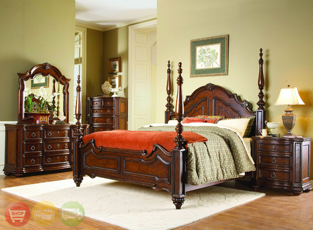 traditional designer bedroom furniture photo - 2