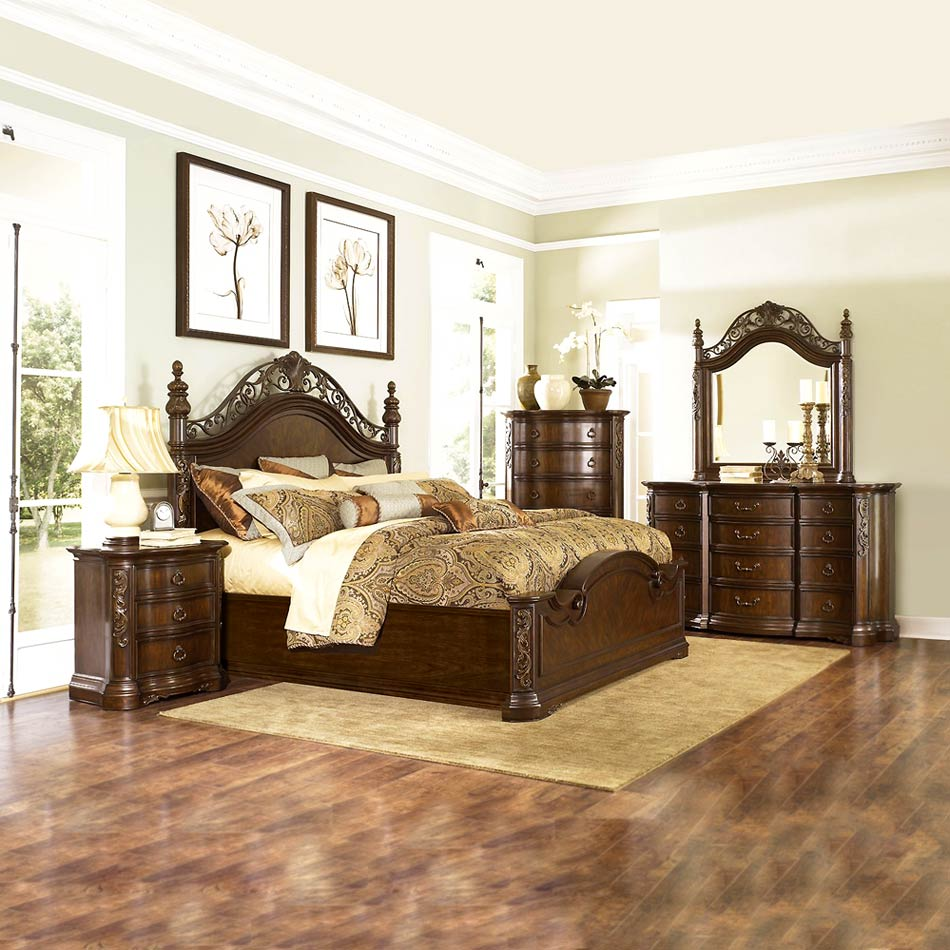traditional designer bedroom furniture photo - 5