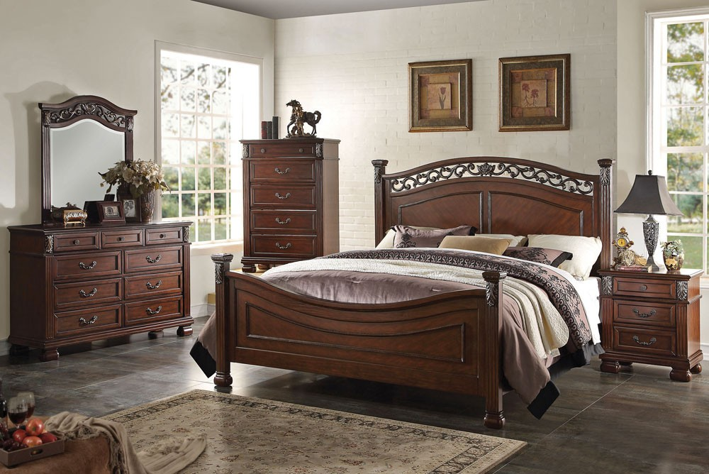 traditional designer bedroom furniture photo - 7