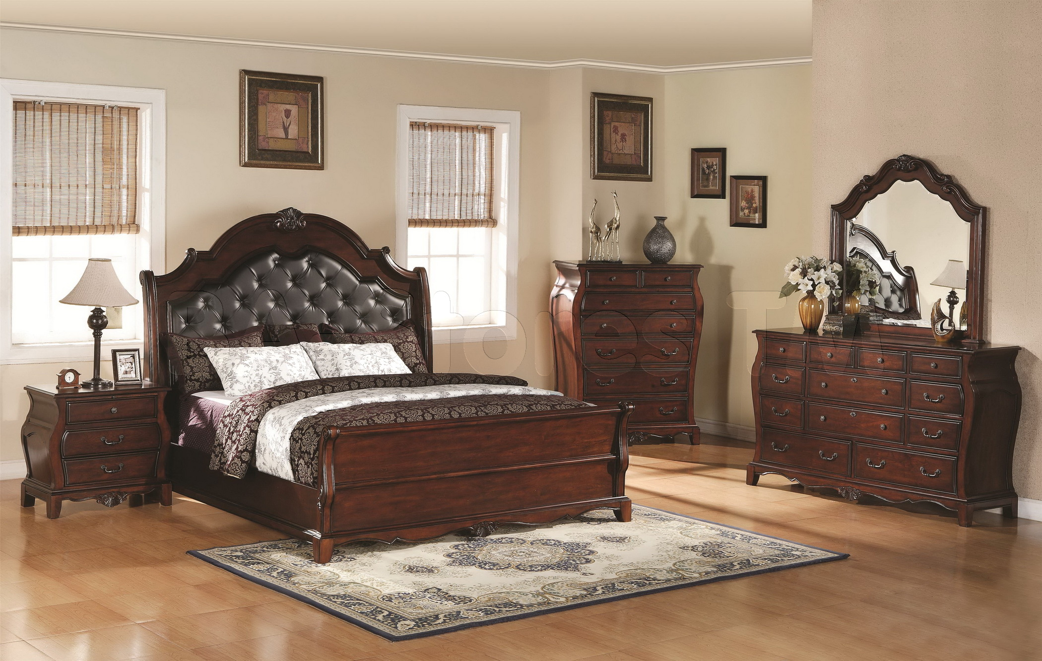 traditional designer bedroom furniture photo - 8