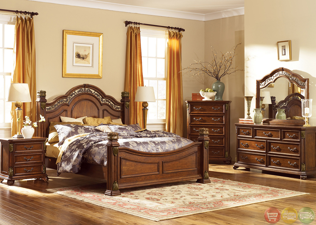 traditional poster bedroom sets photo - 1