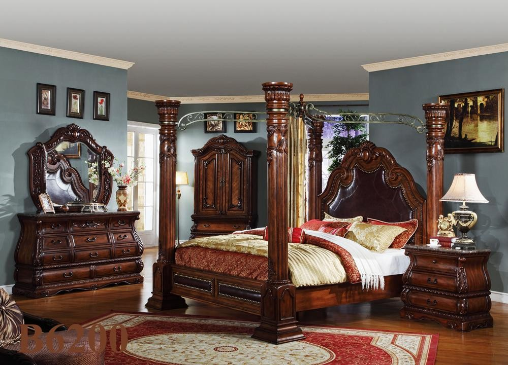 traditional poster bedroom sets photo - 2