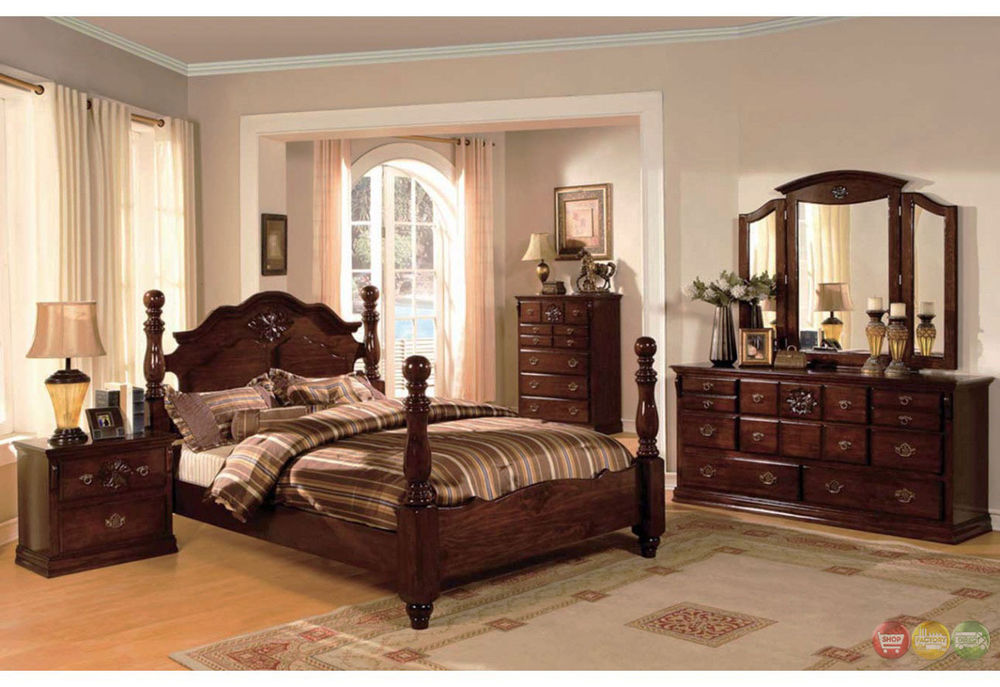 traditional poster bedroom sets photo - 5