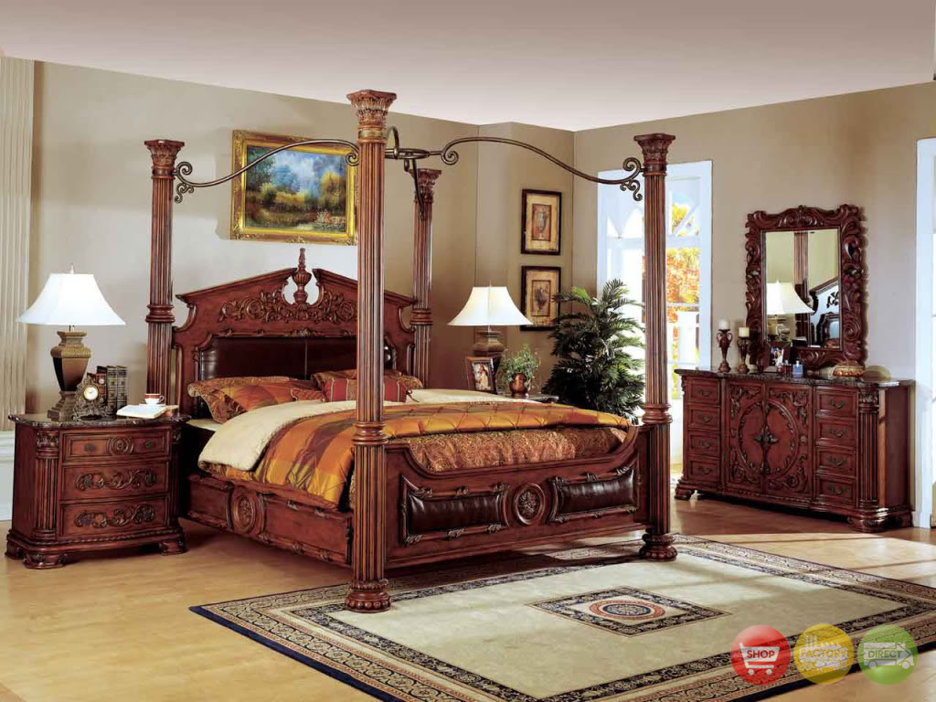 traditional poster bedroom sets photo - 9