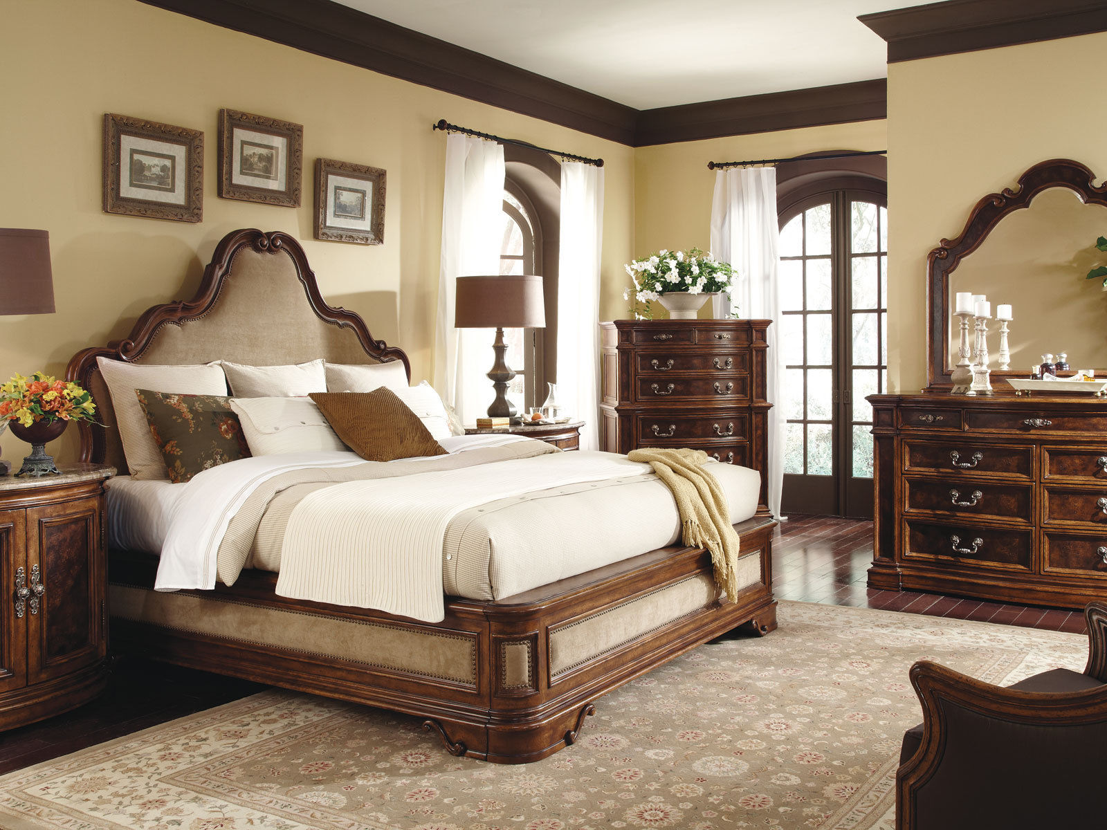traditional queen bedroom sets photo - 2