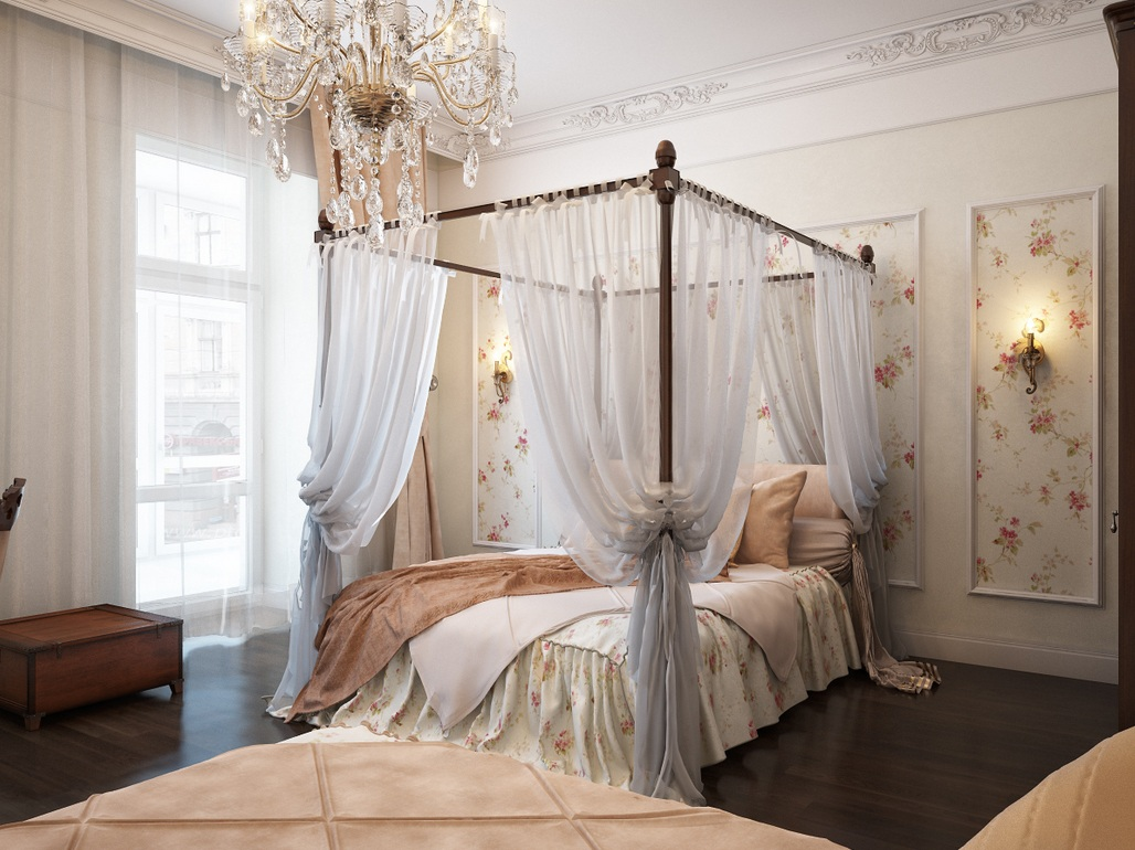 traditional romantic bedroom photo - 6
