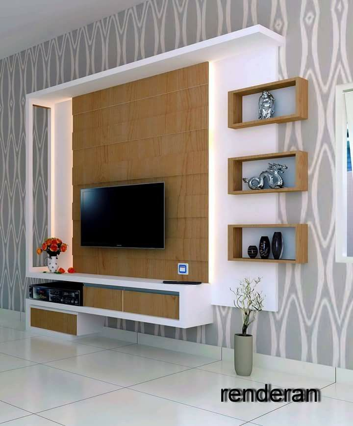 tv unit design ideas photo - 4