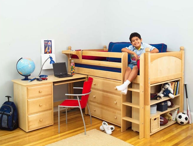 twin low loft beds for kids photo - 6
