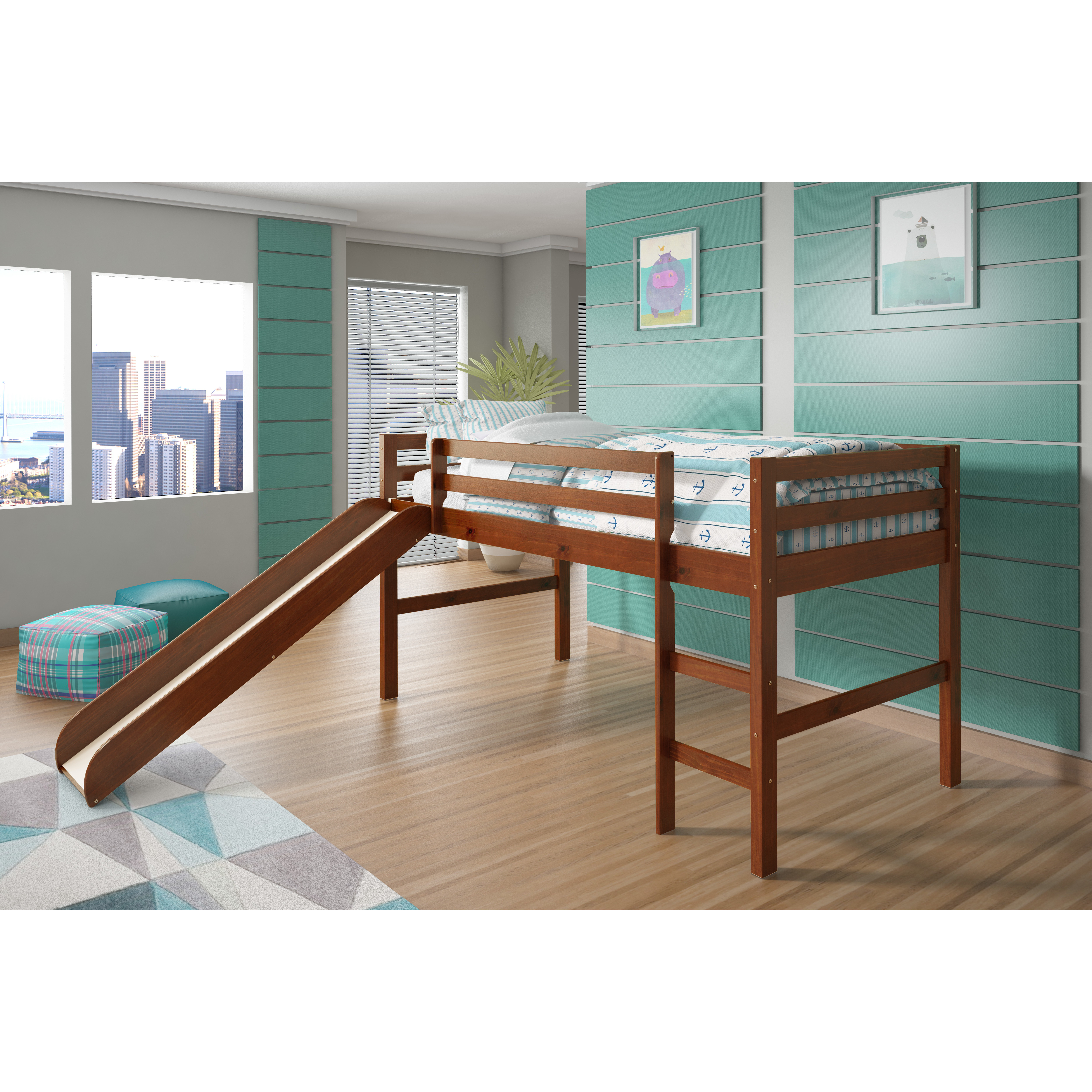 twin low loft beds for kids photo - 7
