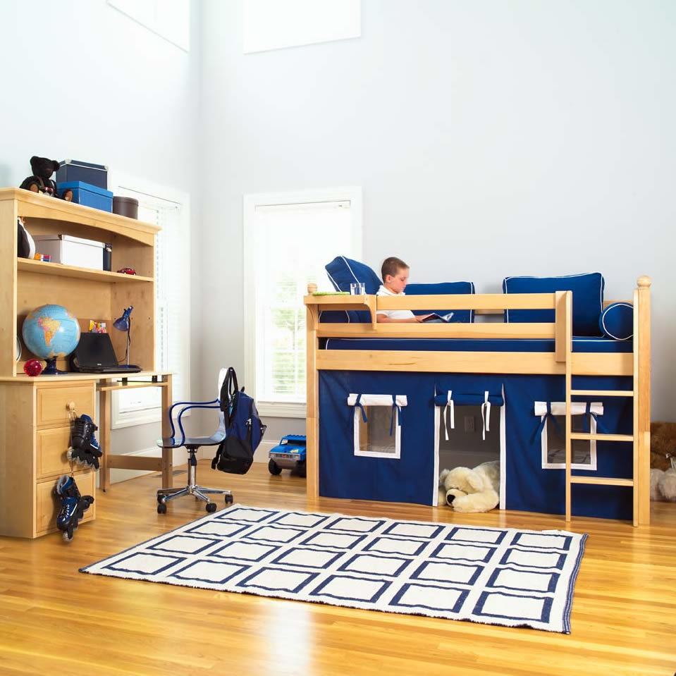 twin low loft beds for kids photo - 8
