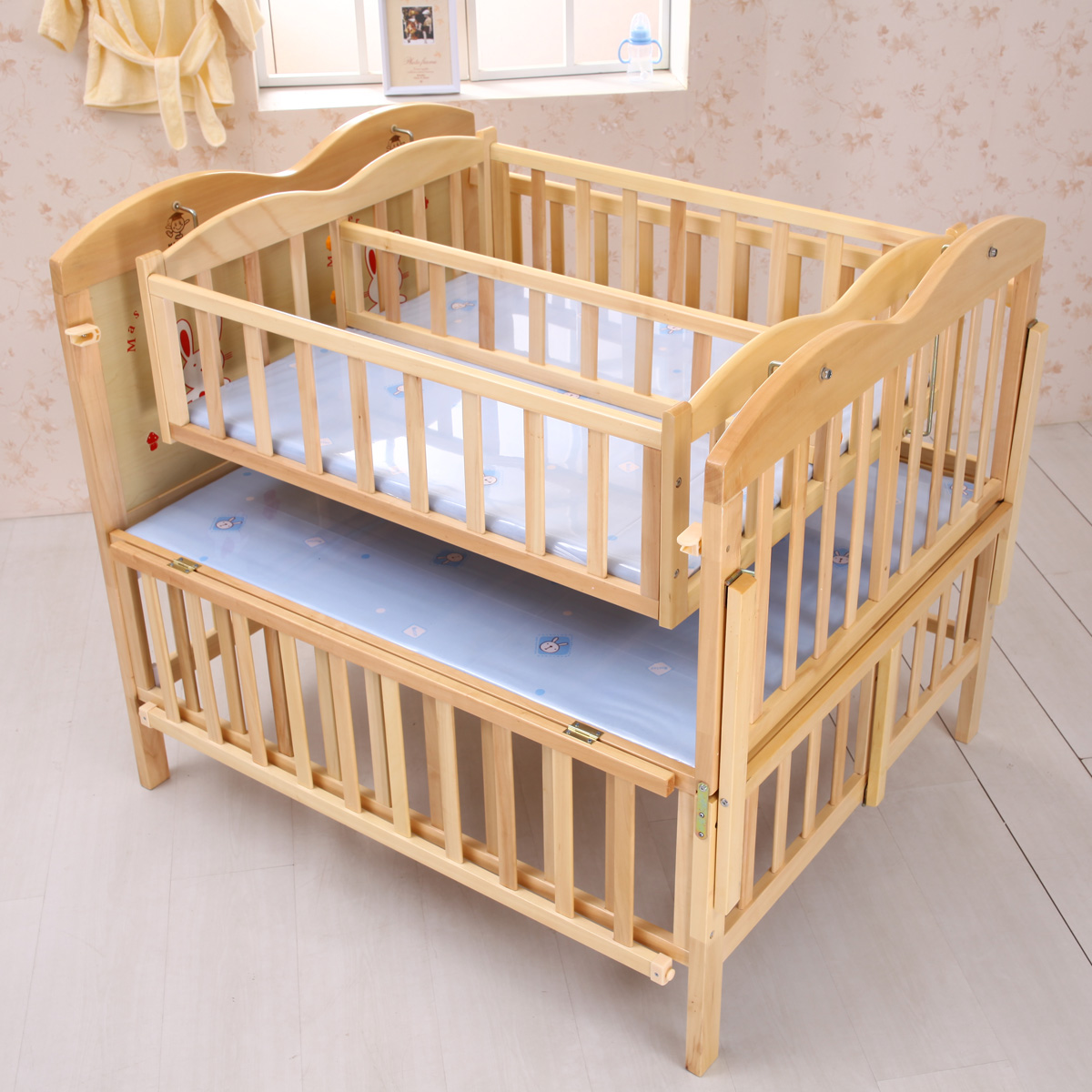 twin nursery furniture photo - 1