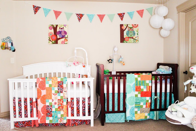 twin nursery furniture photo - 10