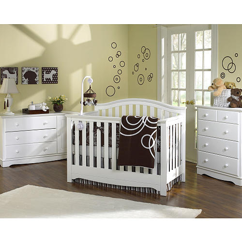 twin nursery furniture photo - 2