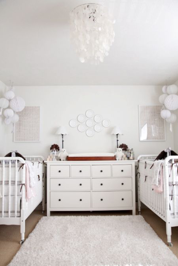 twin nursery furniture photo - 5