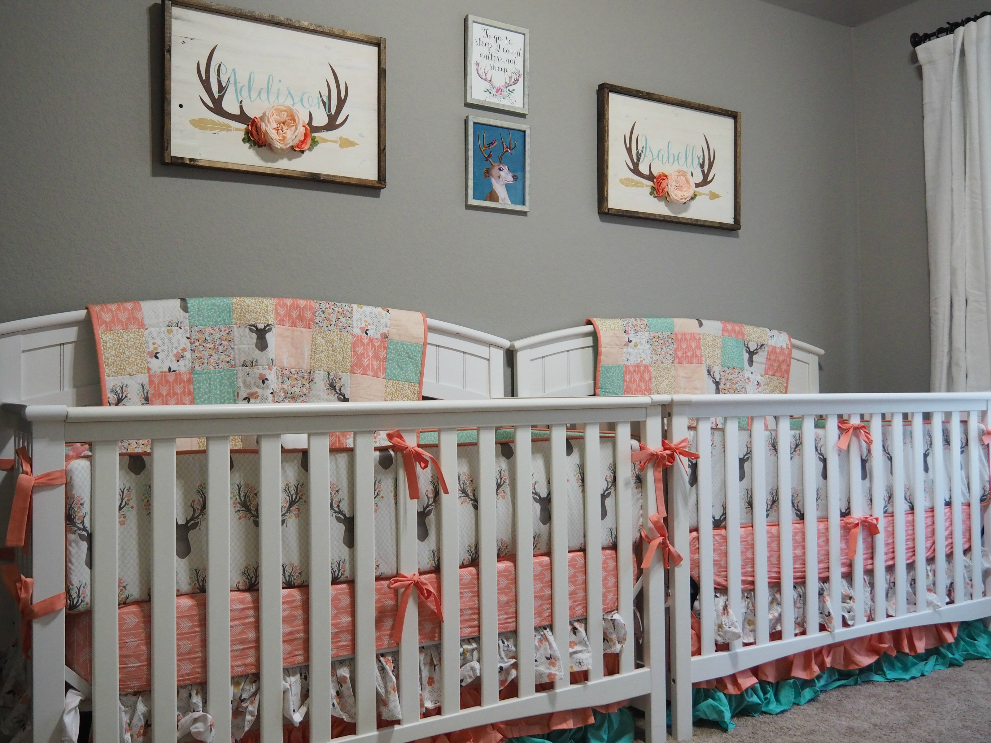 twin nursery furniture photo - 7