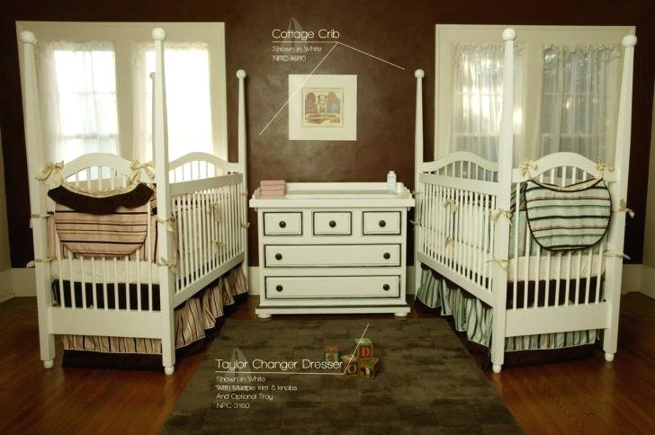 twin nursery furniture photo - 8