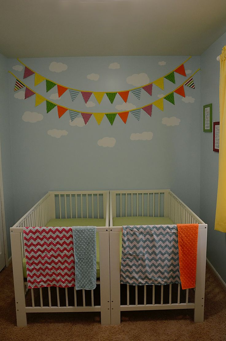 twin nursery furniture photo - 9