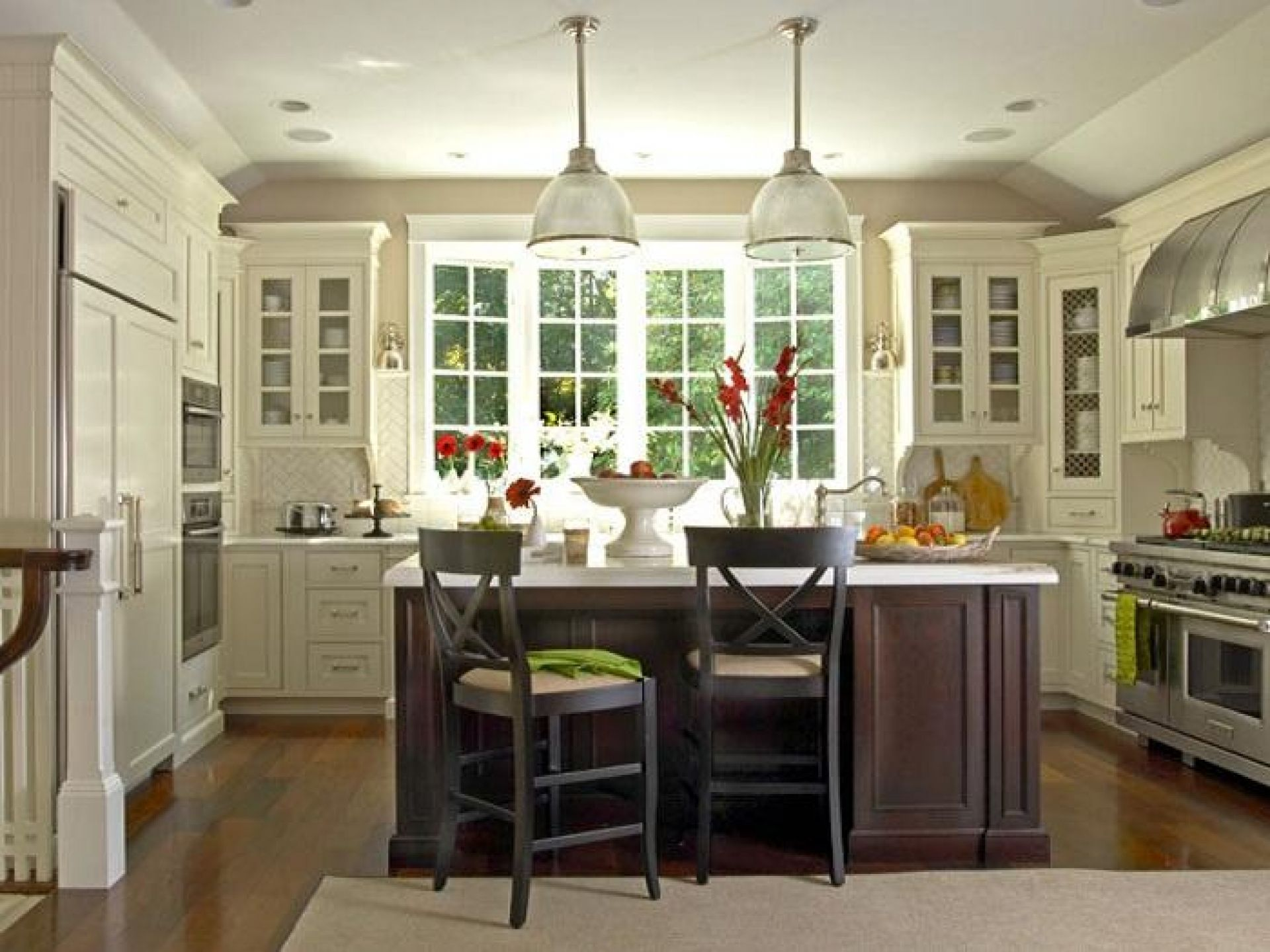 u shaped country kitchen designs photo - 5