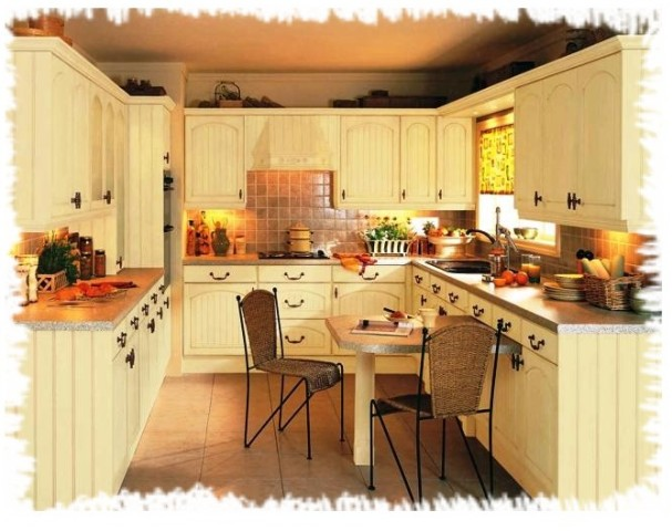 u shaped country kitchen designs photo - 6