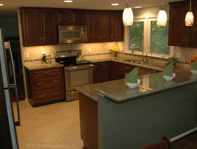 u shaped kitchen renovation photo - 1