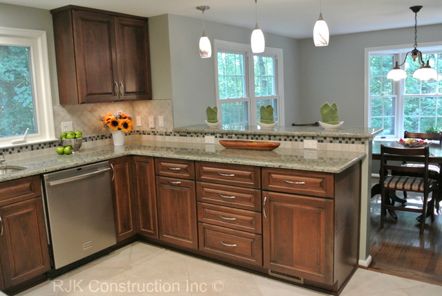 u shaped kitchen renovation photo - 2