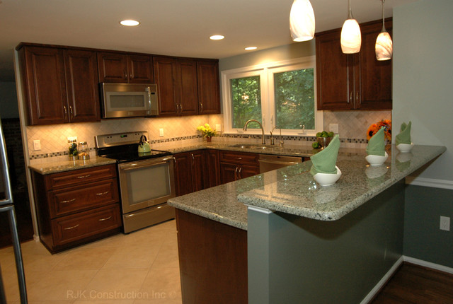 u shaped kitchen renovation photo - 3
