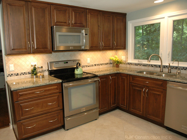 u shaped kitchen renovation photo - 4