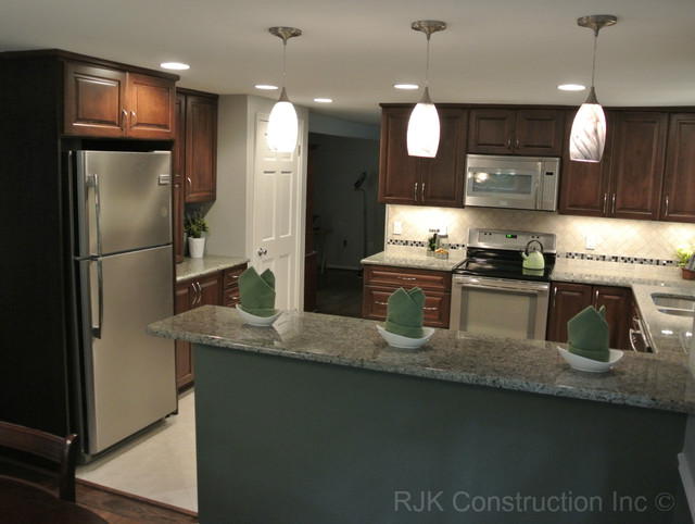 u shaped kitchen renovation photo - 5
