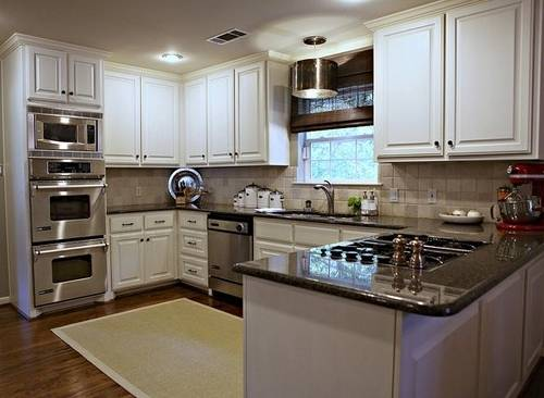 u shaped kitchen renovation photo - 6