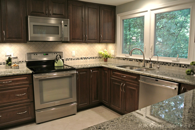u shaped kitchen renovation photo - 8