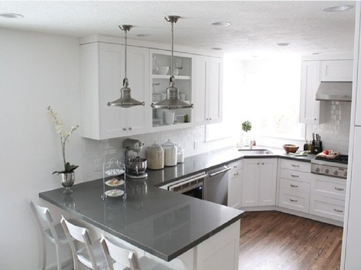 u shaped kitchen renovation photo - 9