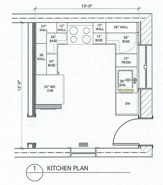 u shaped kitchen size photo - 9