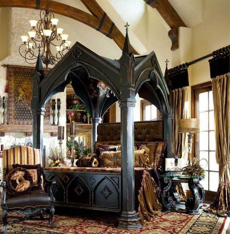 victorian gothic bedroom photo - 1