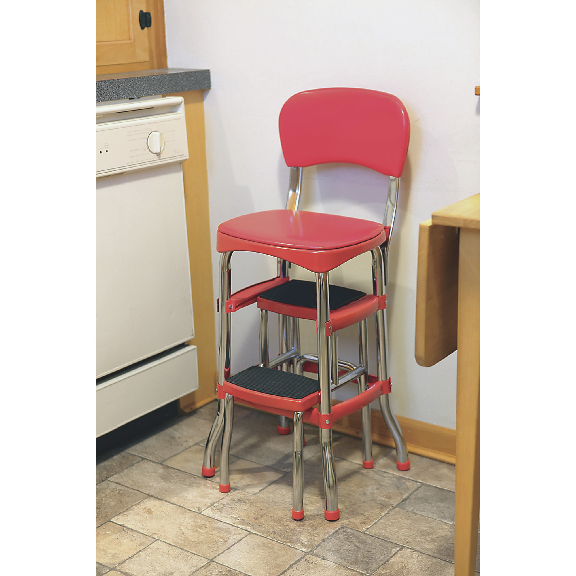 vintage kitchen chair with steps photo - 1