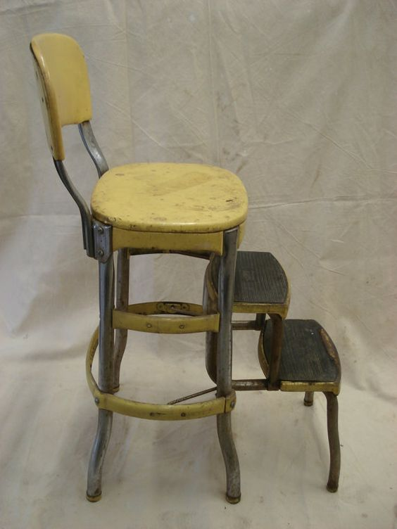 vintage kitchen chair with steps photo - 10