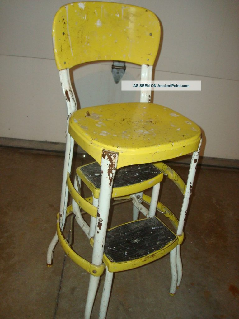 vintage kitchen chair with steps photo - 3