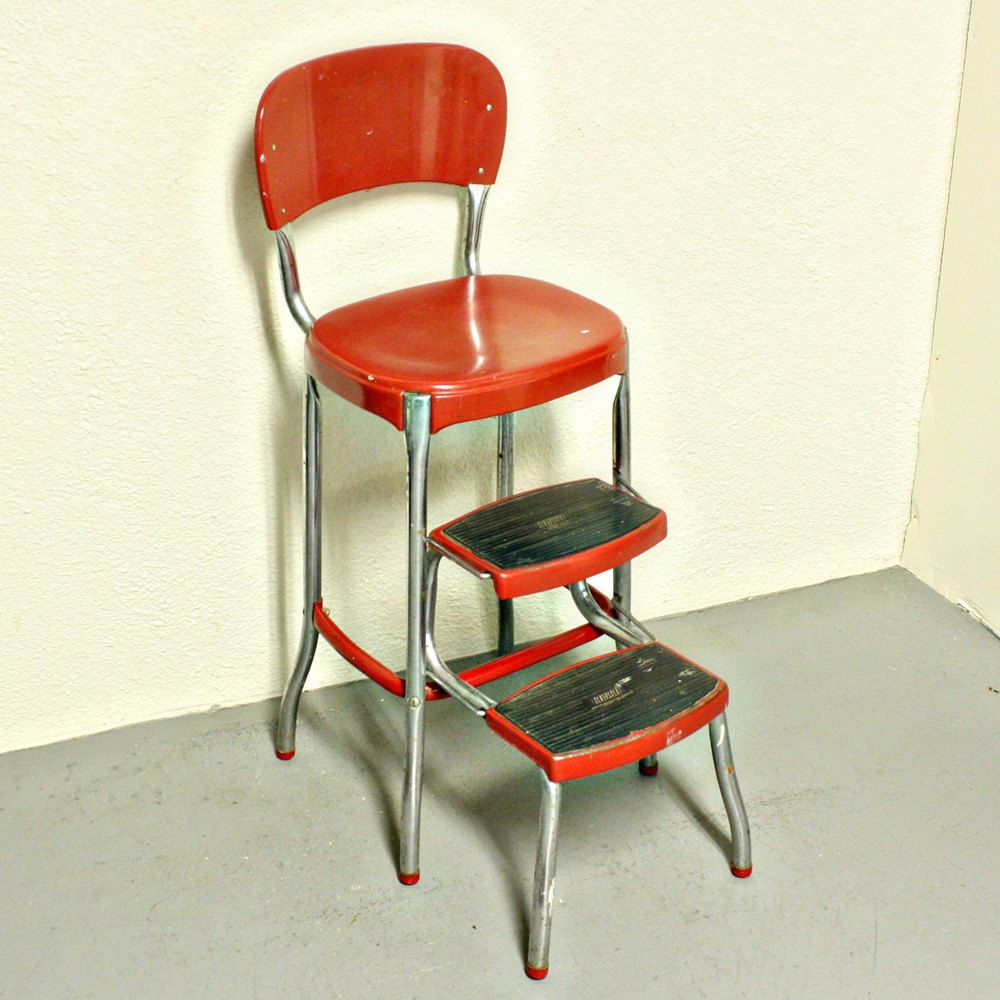 vintage kitchen chair with steps photo - 4
