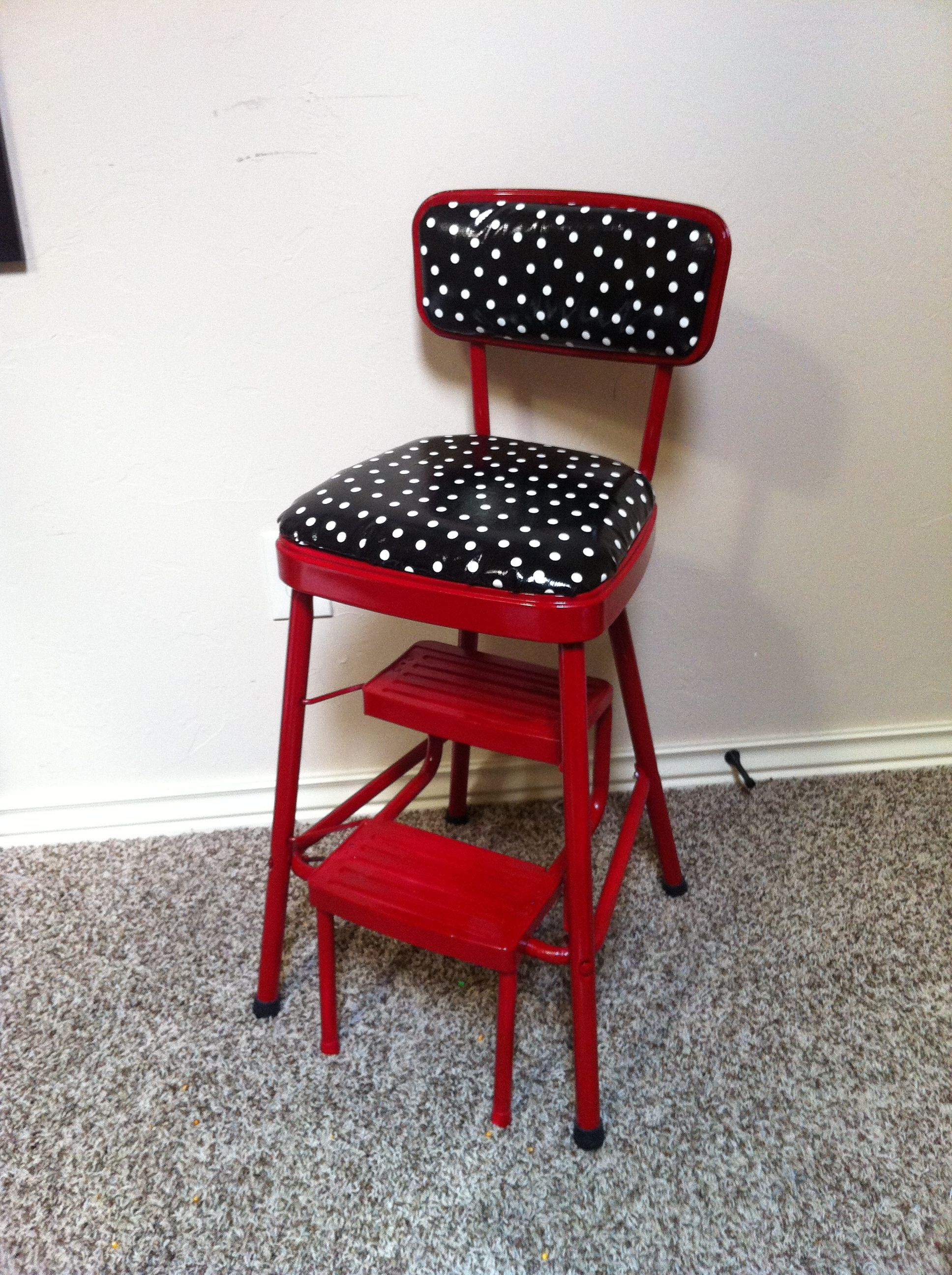 vintage kitchen chair with steps photo - 5