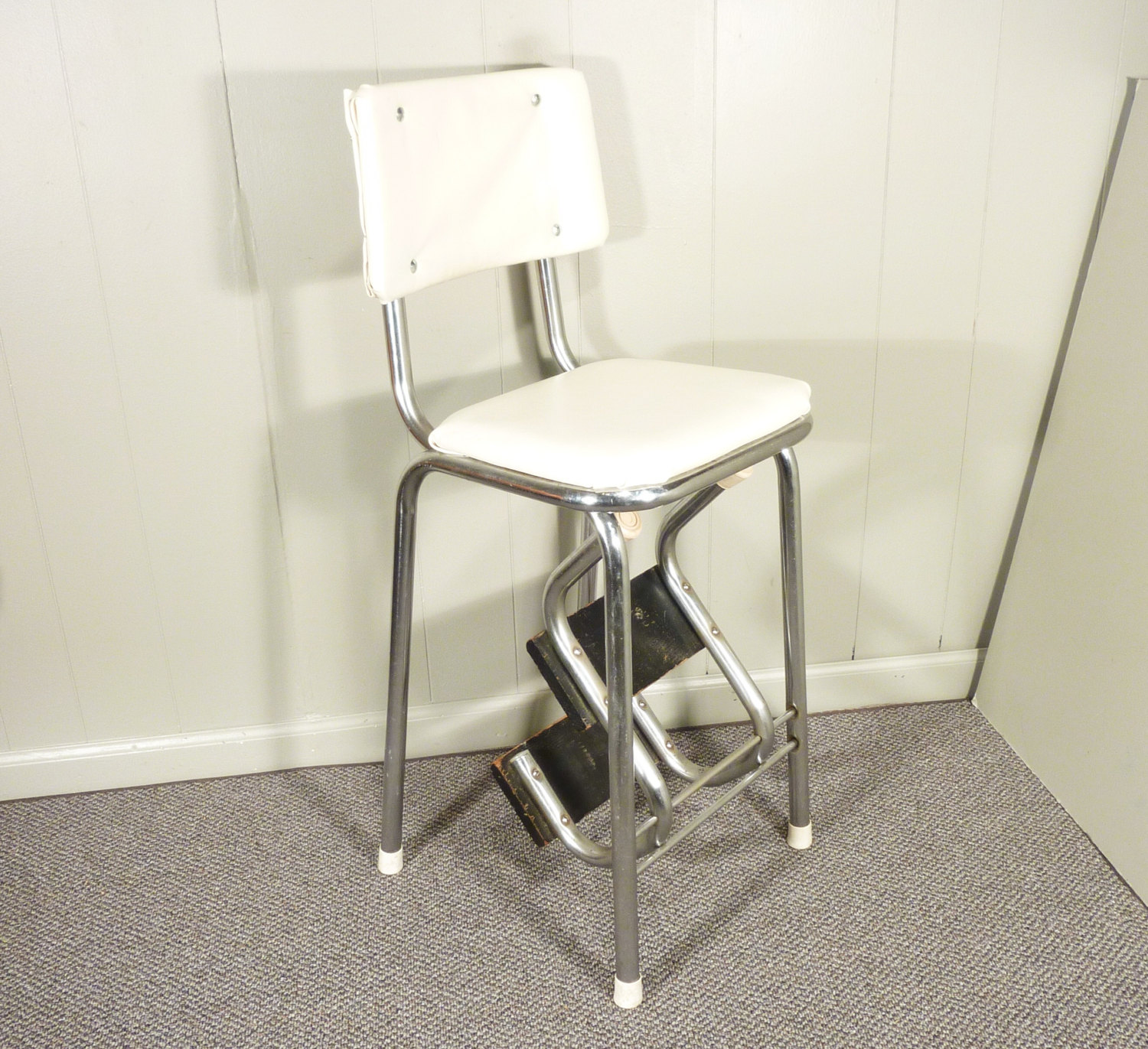 vintage kitchen chair with steps photo - 6