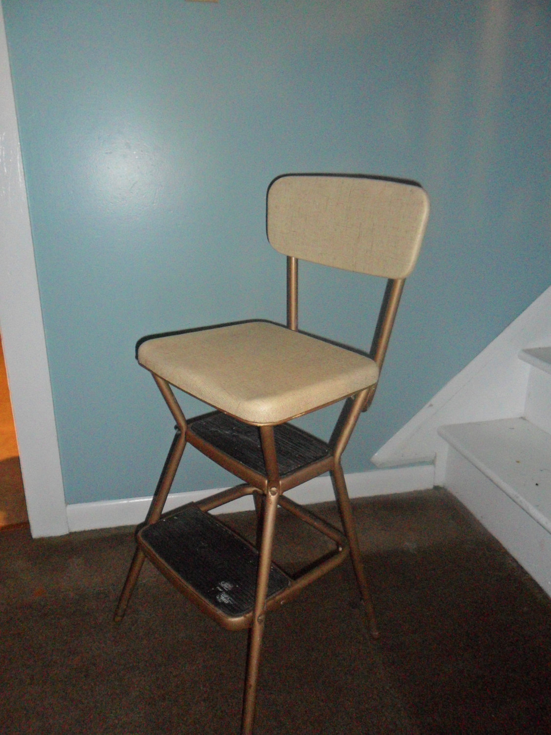 vintage kitchen chair with steps photo - 9