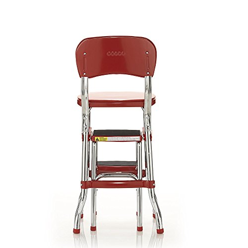vintage kitchen retro chair bar step stool red photo - 10