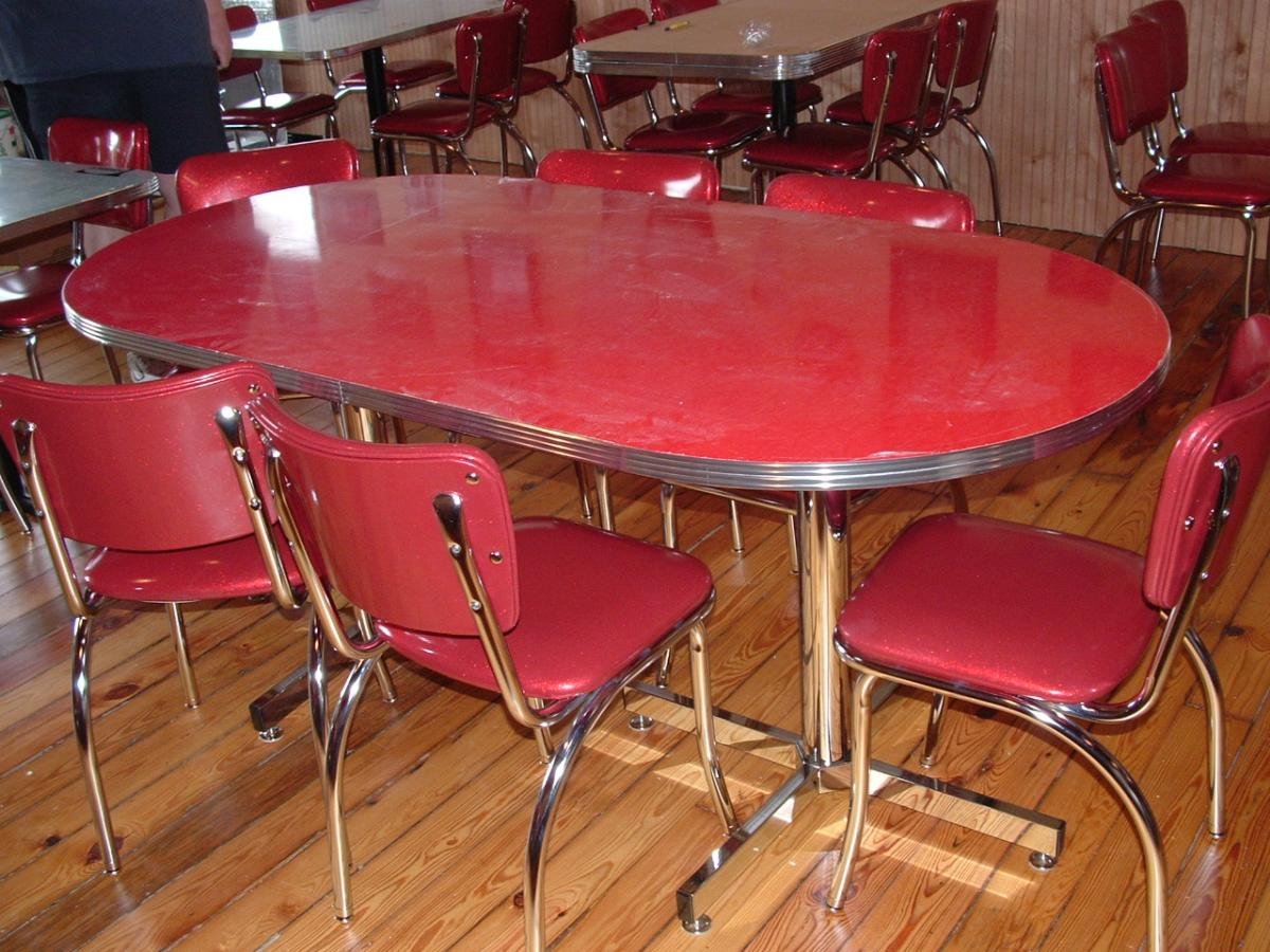 vintage kitchen table and chairs set photo - 1