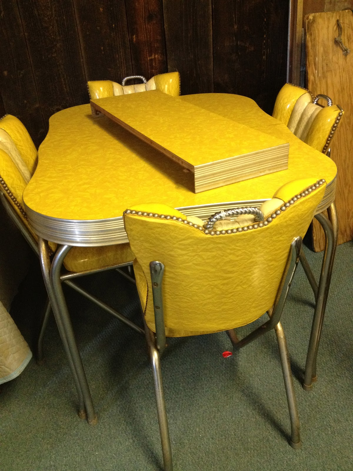 vintage kitchen table and chairs set photo - 3